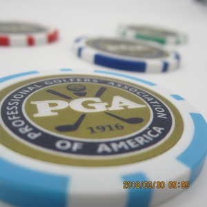 Image 3 - 12ea 새로운 디자인 pga 골프 포커 칩 볼 마커 많은 색상 40 cm 직경 11.5g 베스트 셀러 골프 공 마커