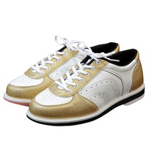 Men PU Leather Bowling Shoes Women Skidproof Sole Professional Sports Bowling Shoes Anti-slip Training Sneakers  D0762
