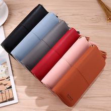 цены на Fashion Women Clutch Wallet Purse Female PU Long Wallet Handbag Coin Purses Card Holder Mobile Phone Bag Portefeuille Femme  в интернет-магазинах