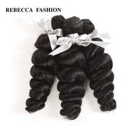 Rebecca Malaysian Loose Wave Bundles 10 28 Inch 3/4 Pcs Natural Black 100% Human Hair Bundles Non Remy Hair Extensions