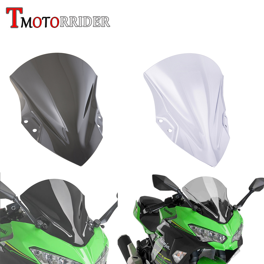 Motorcycle High Quality PC Plastic Windscreen Windshield Baffle Wind Deflectors for 2018-2019 Kawasaki Ninja 400 18Motorcycle High Quality PC Plastic Windscreen Windshield Baffle Wind Deflectors for 2018-2019 Kawasaki Ninja 400 18
