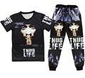 Rap godfather 2 pac tupac Print 3d t shirt+joggers men/woman Casual sweatpants hip hop t shirt plus size S-XXL Free shipping