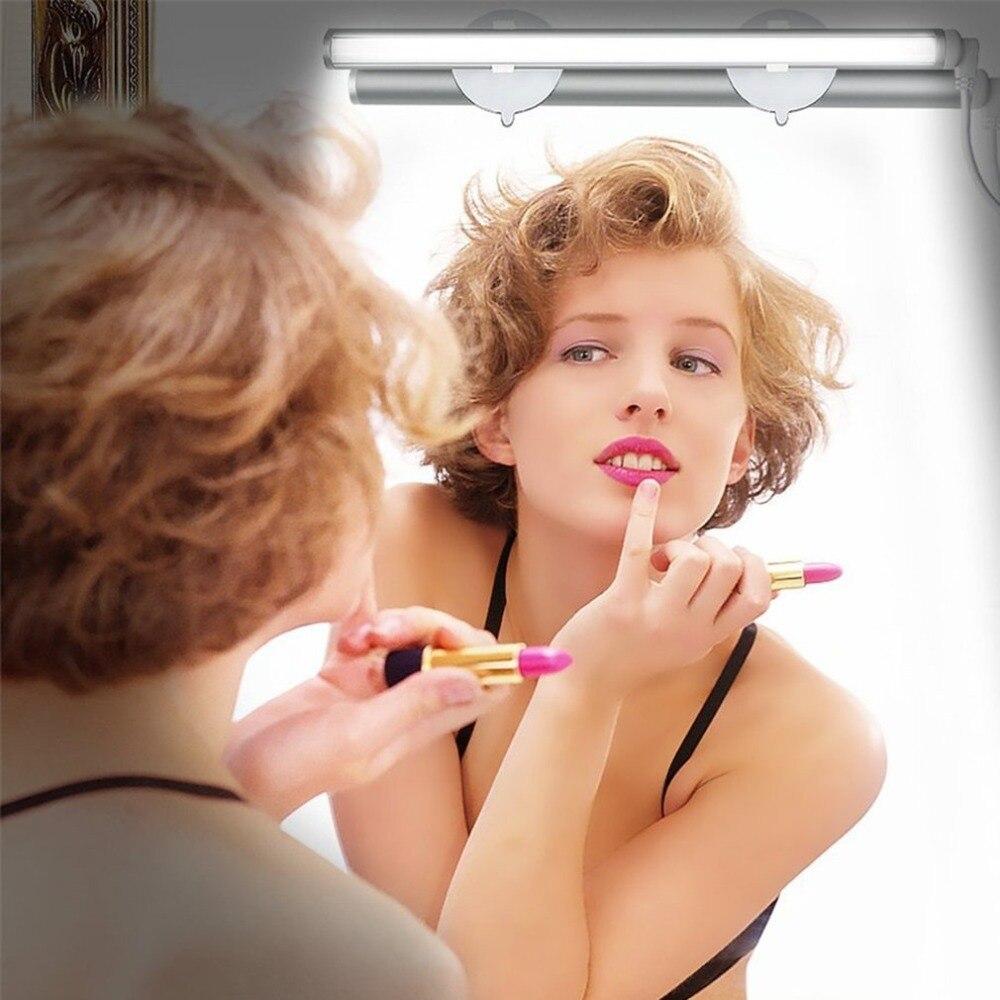 Свет Тщеславия светодиодный Make Up Light Портативный косметическое зеркало свет комплект с 3 уровня Яркость затемнения USB Powered макияж свет ...