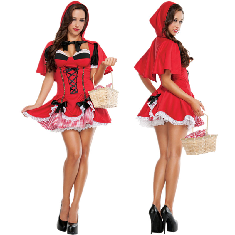Sexy Ladies Little Red Riding Hood Halloween Costume Fancy -7144