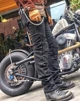 Uglybros UBP 02 winter plus velvet warm motorcycle pants men's motorcycle jeans moto protective pants size: 28 40