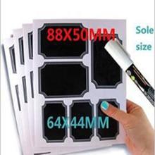 White custom boarder chalkboard label self-adhesive removable sticker for kitchen mason jar or bottles decoration