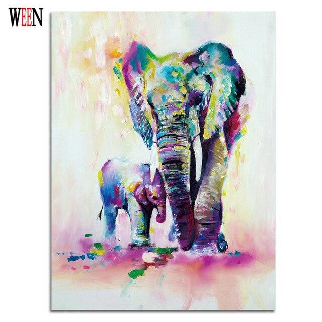 Comprar elefante familia fotos pinturas de for Imagenes de cuadros abstractos para colorear