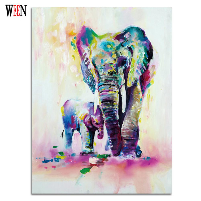 Elephant Paintings On Canvas