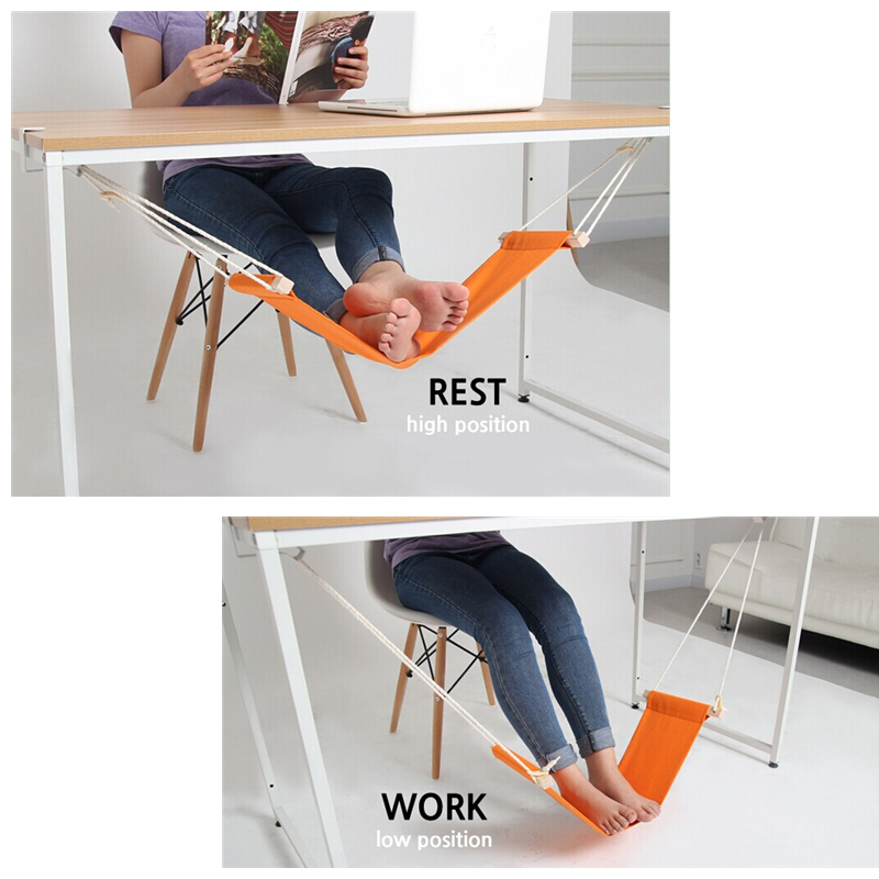portable mini office foot rest stand desk feet hammock the foot hammock stand hanging swing under