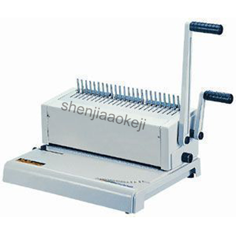 Two Handle Manual comb Binding Machine rubber ring Binding Machine 24 Hole Punching Machine 500 sheets binding thickness