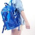 NOVA Impermeável Mochila de Plástico Transparente para Adolescentes Meninas Mochilas Escolares Ombros Saco DO PVC espaço mochila notebook