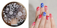 HEHE ! New Stamping Plate hehe13 Girly Jewelry Box Cartoon Sailor Moon Nail Art Stamp Template Image Transfer Stamp(China)