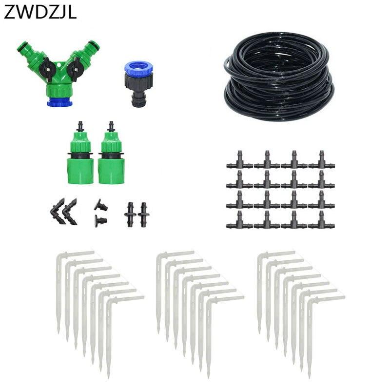 Micro drip system DIY Automatic Drip irrigation arrow watering kit 2-way greenhouse garden 1 set