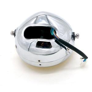 Image 5 - Светодиодный светильник для передних и передних фар мотоцикла, Круглый, 12 в пост. Тока