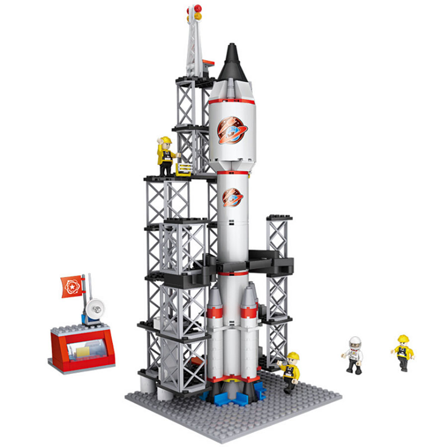 COGO Space rocket Building Blocks Kid Toy Enlighten Aerospace Launch center Building Blocks Toys For Children Educational blocks