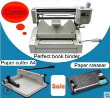 Hot Sale Perfect Book Binding Machine Kits Combo  book binder + Stack paper cutter Paper Creaser
