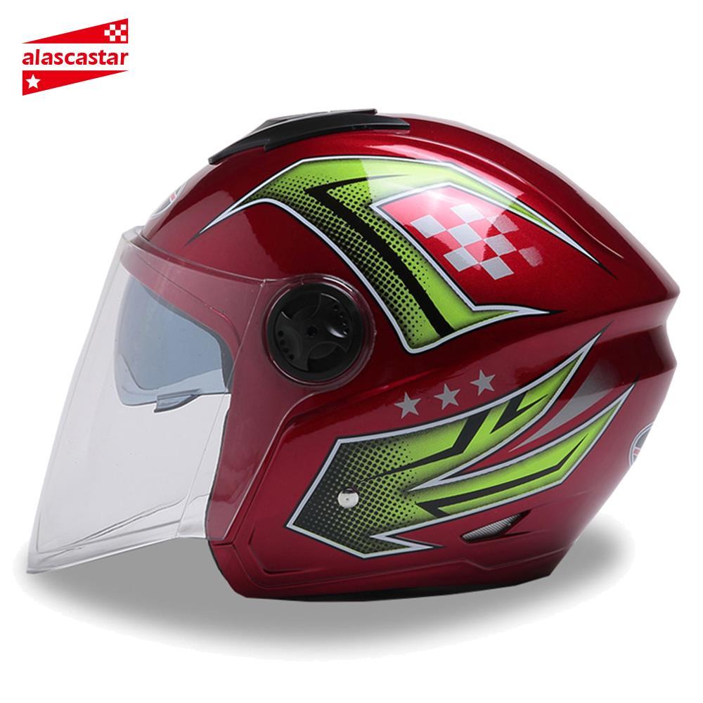 Nouveau Casque Moto Capacete Casque Moto Casque Touring Motocross Moto course équitation demi visage Casque Moto #