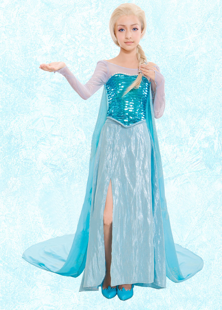 Disfraz Elsa Cosplay Costume Dress For Girls-in Kids Costumes u0026 Accessories from Novelty u0026 Special Use on Aliexpress.com | Alibaba Group  sc 1 st  AliExpress.com & Disfraz Elsa Cosplay Costume Dress For Girls-in Kids Costumes ...
