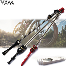VXM 1 Pair Bicycle Bike Wheel Hub Quick Release QR Front Rear Axle Skewer 52g Red Black Titanium alloy