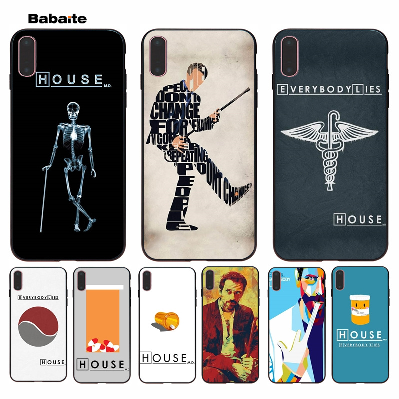 Half-wrapped Case Babaite House Md Everybody Lies Novelty Fundas Phone Case Cover For Iphone 8 7 6 6s Plus 5 5s Se Xr X Xs Max Coque Shell