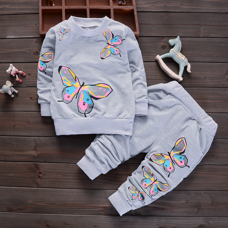 BibiCola baby girl clothing set spring autumn clothes tracksuit for girl toddler kids casual tracksuit set infant sport suit set