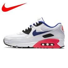 34dea7be Nike Air Max 90 Essential женские кроссовки, амортизация износостойкие  дышащие Нескользящие, белый и розовый 537384 136