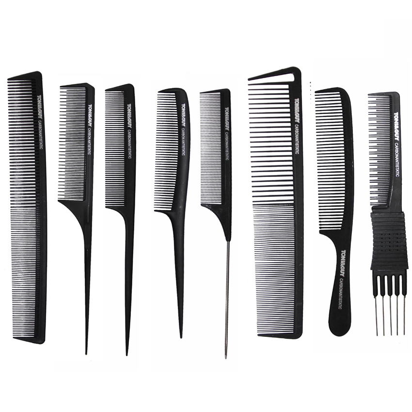 hair styling combs pro 8 hairdressing carbon comb for haircut hair 7677