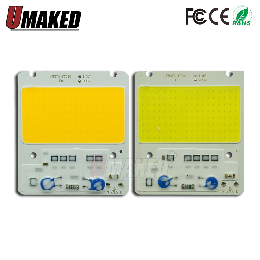 50W 82x75mm LED COB Lamp Integrated High Power Light AC220V 110V Lamps With Smart IC Driver led Floodlight White / Warm White