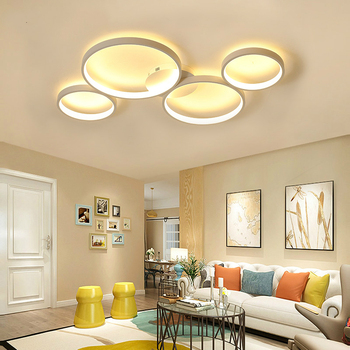 Remote Dimming Ceiling Lights For Dining Living Room Bedroom Panel Light White Black Modern LED Ceiling Lamps 22W 36W 48W 70W