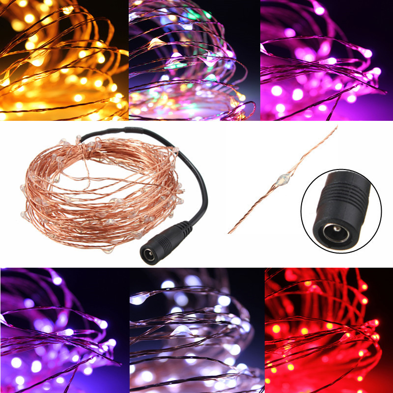 Smuxi 10M 100 LED String Lights for Christmas Garland Party Wedding Decoration Flasher Fairy Lights Waterproof DC12V LED Strip