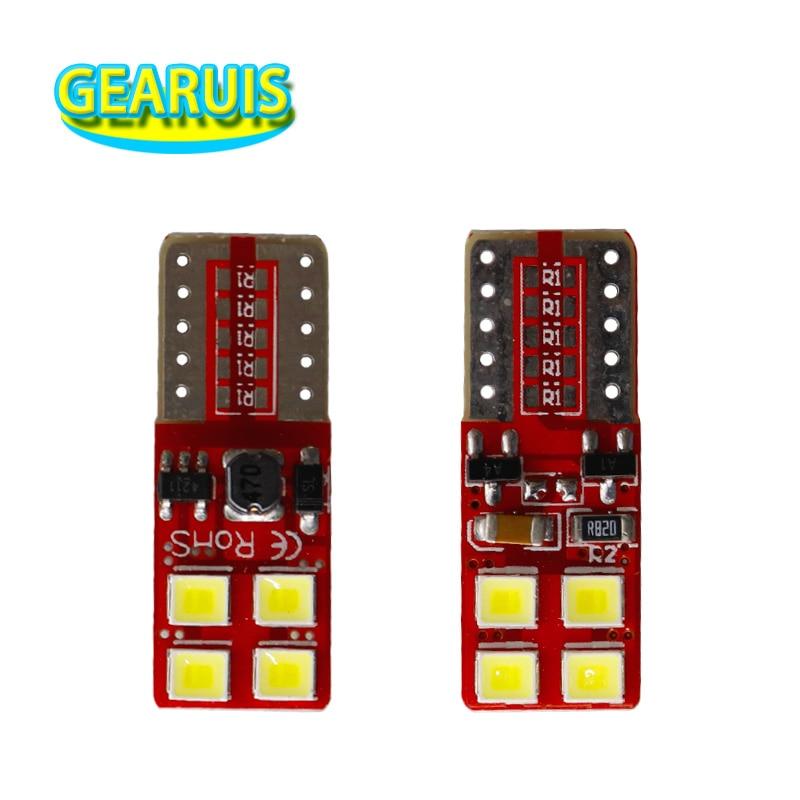 100pcs T10 Canbus 2835 0 18 Ampere Error free 8 SMD LED No polarity 194 168