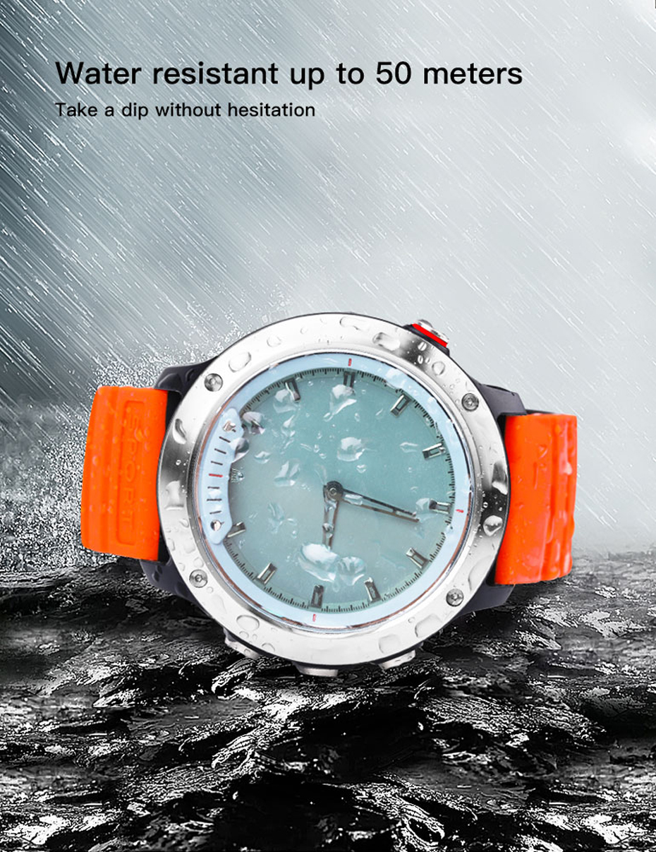COLMI M5 Transparent Screen Smart Watch Men IP68 Waterproof Heart Rate Monitor Stainless Steel Clock Smartwatch For IOS Android 06