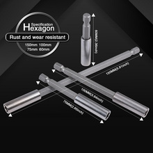 купить 1/4 Inch Hex Magnetic Screwdriver Bit Holder 60/75/100/150mm Quick Change Extension Tip Bar 1/4