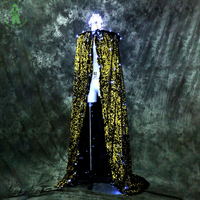 Бесплатная доставка световой костюм мантии светодиодный освещения накидка для клуба вечерние этап Одежда для танцев Красота queen flash блестк