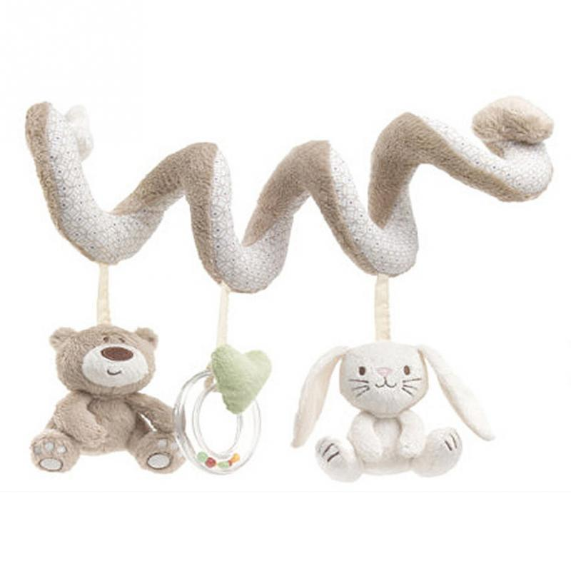 Strong-Willed Baby Rattle Cute Animals Elephant Hand Bell Rod With Bb 0-12 Months Baby Toys Plush Toy Soft Stuffed Rattles Handbell Brinquedos Toys & Hobbies