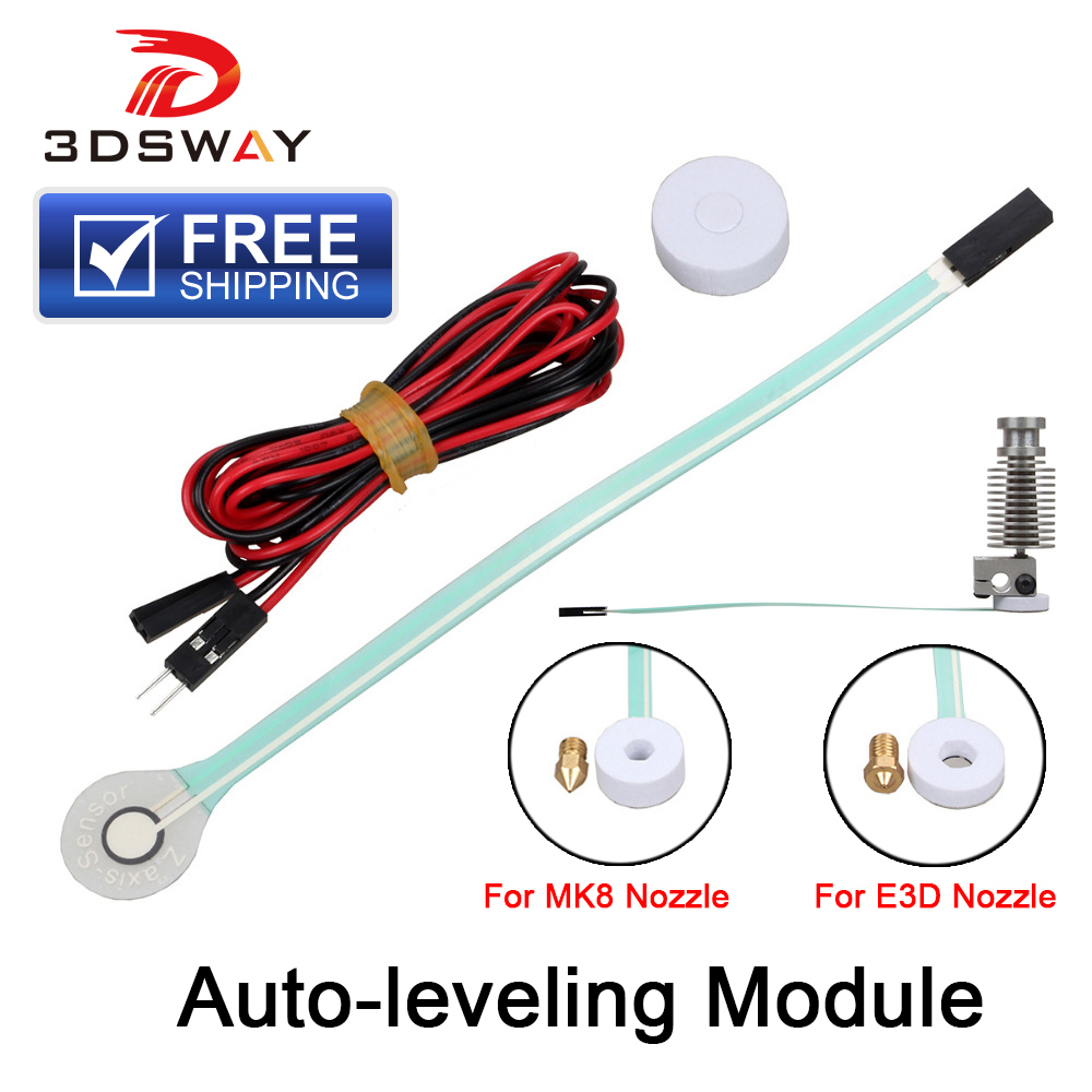 Free Shipping 3DSWAY 3D Printer Part Automatic Leveling Module Film Pressure Probe Type Auto-leveling Sensor For E3D V6 MK8
