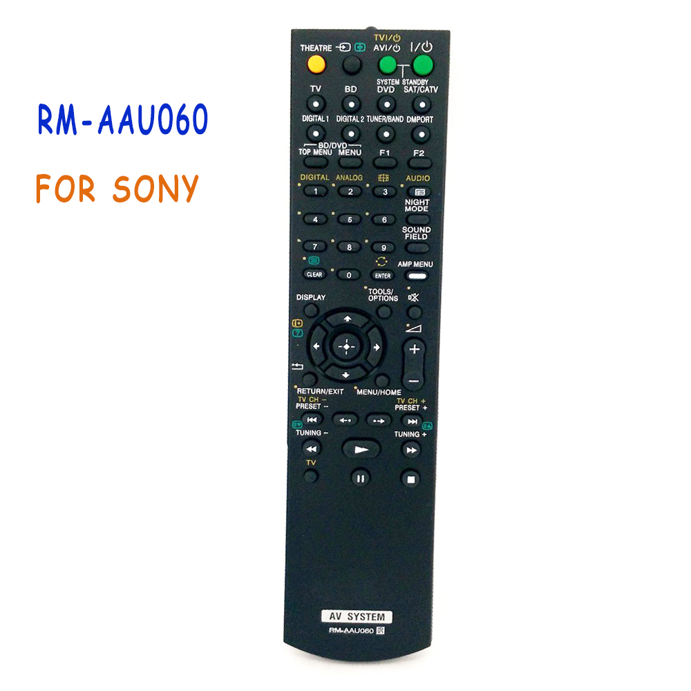 New Replacement RM-AAU060 AV System Remote Control  For Sony Home Theater HT-FS3 SA-WFS3 HT-SS360 STR-KS360 STR-KS360S Controle