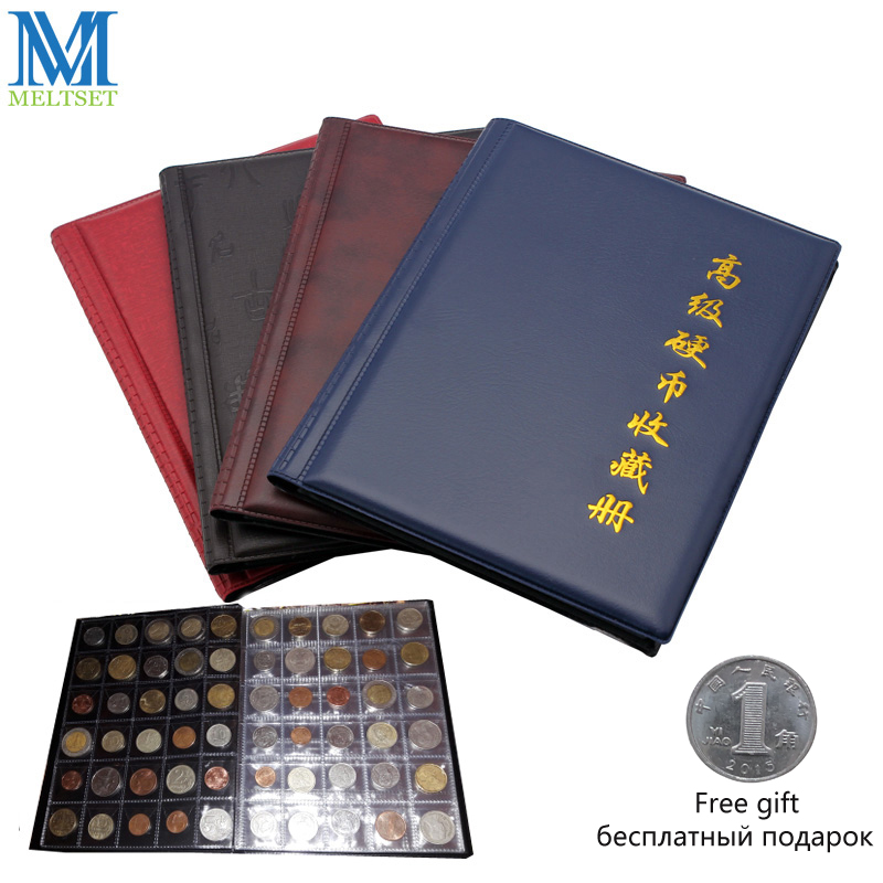 1 unid Commemorative Coin Collection Book 10 páginas 250 unidades cartones para monedas álbum colección de monedas multicolor