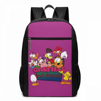 Garfield Backpack Garfield And The Friends Backpacks Multi Function Trend Bag School Print High quality Teen Man - Woman Bags the tenth garfield treasury