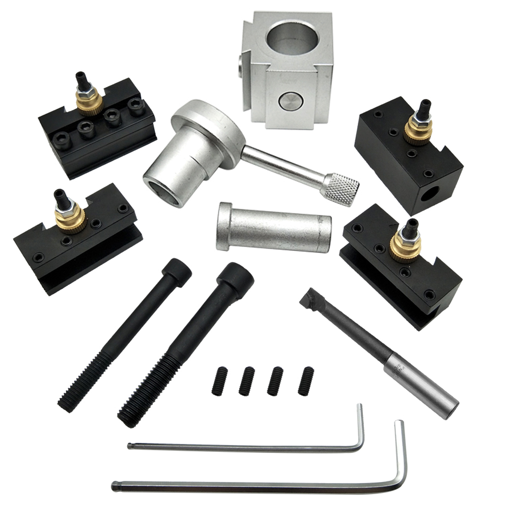 Mini Aluminum Lathe Quick Change Tool Holder Post Set, mini quick change tool post set use for hobby lathes
