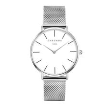 CHRONOS 1898 Luxury Watch Silver Casual Quartz Watch Alloy Mesh Watch 40mm Clock Women Watches Ladies watch CH0237