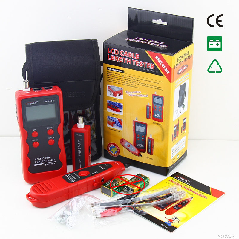 NF-868 Digital Cable Tester Tracker For RJ45, RJ11 Anti-jamming Crosstalk/ Short-circuit/Lenth Tester NF_868