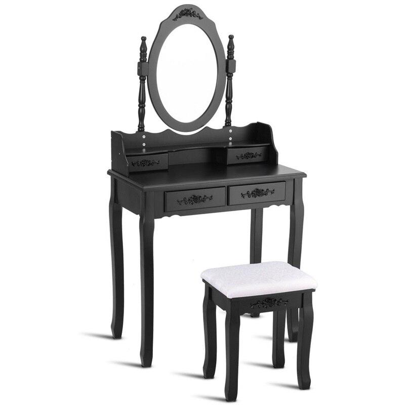 Зеркало для спальни деревянный туалетный столик табурет набор спальни Высококачественная Мебельная ручка HW52948 - 2