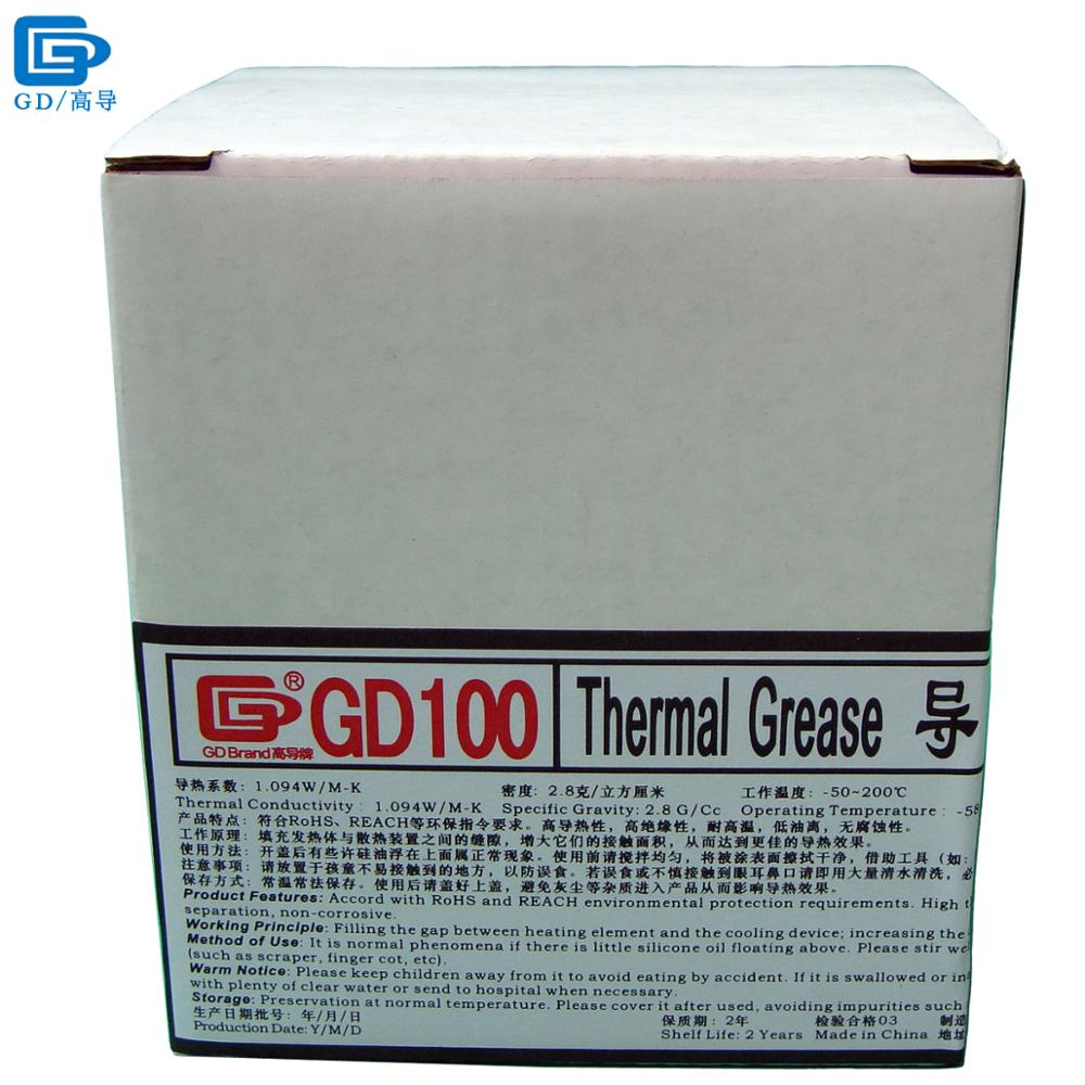 GD Brand Heatsink Plaster Compound GD100 Thermal Conductive Grease Paste Silicone Net Weight 1000 Grams White For CPU LED CN1000 30g grey silicone compound thermal conductive needle grease paste heatsink for cpu gpu led cooling component glue thermal pastes