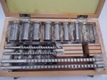 22pcs Keyway Broach Bushing Shim Set Metric System 12-30 HSS Keyway Tool for CNC Machine New
