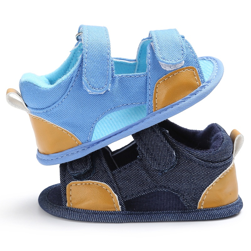 Baby Boys Summer Breathable Shoes Kids Splice Color Hollow Out Anti-skid Casual Baby Canvas Cack Shoes