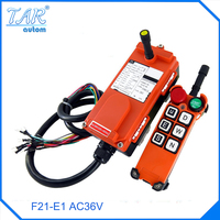 Wholesales F21 E1 Industrial Wireless Universal Radio Remote Control For Overhead Crane AC36V 1 Transmitter And