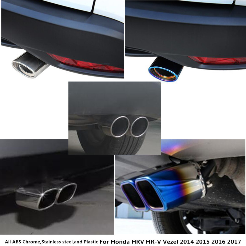 For Honda HRV HR-V Vezel 2014 2015 2016 2017 Car Cover Styling Muffler Tail Pipe outlet Dedicate Stainless Steel Exhaust Tip