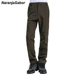 NaranjaSabor Для мужчин; брендовая одежда 2018 осень Для мужчин s Повседневное брюки Добавить флис Для мужчин толстые брюки мужские джоггеры теплые