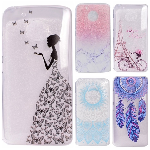 watch 52ec1 3d603 US $1.45 |G5 Transparent Phone Cases sFor Motorola Moto G5 Case Silicone  Fresh Slim Soft Back Cover For Moto G5 Plus Butterfly Girl-in Fitted Cases  ...